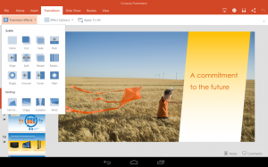 PowerPoint for Android tablet