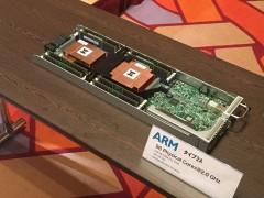 会場に展示されたARMサーバー「ARM v8-A」